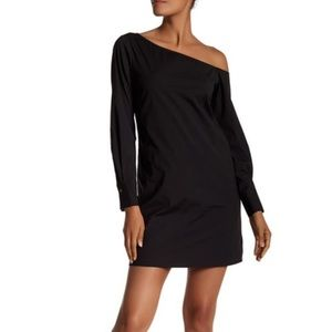 Theory Ulrika One Shoulder Dress long sleeves
